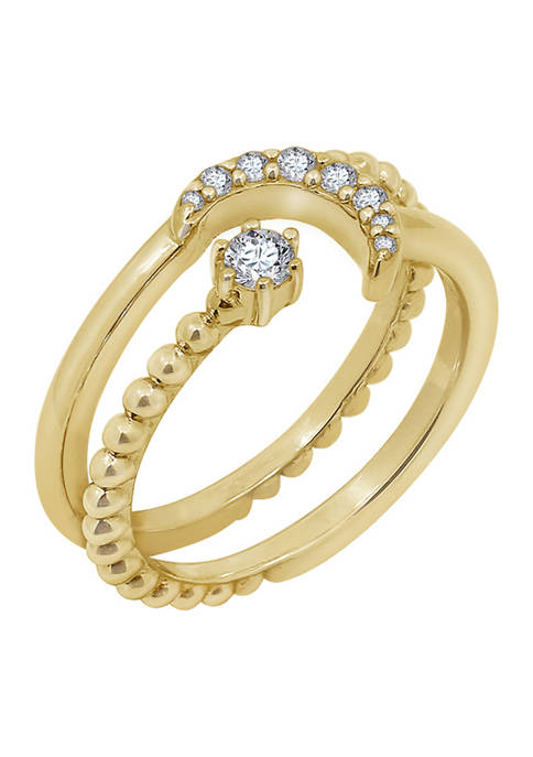 J'admire Yellow Gold Plated Sterling Silver 1/5 ct.