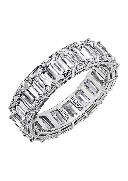 DIAMONBLISS Emerald Cut Eternity Band Ring