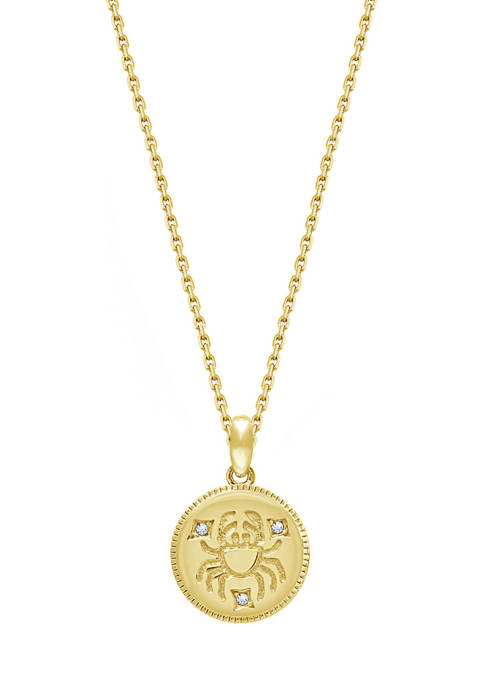 J'admire Yellow Gold Plated Sterling Silver Zodiac Star