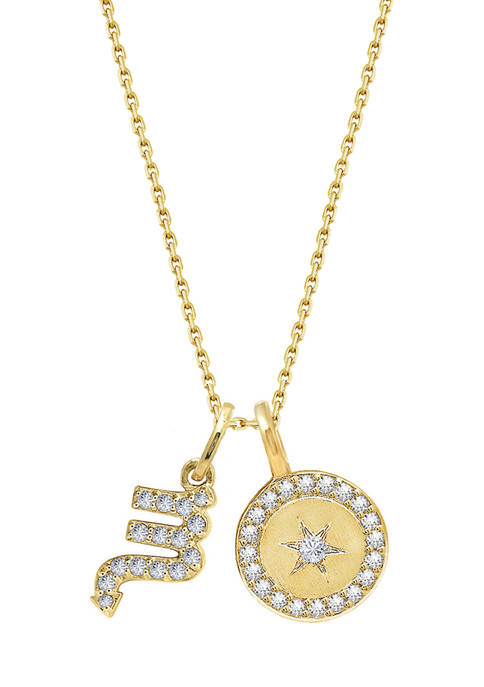 J'admire Yellow Gold Plated Sterling Silver Zodiac Set