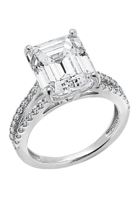 5.55 ct. t.w. Emerald Cut Cubic Zirconia Cocktail Ring