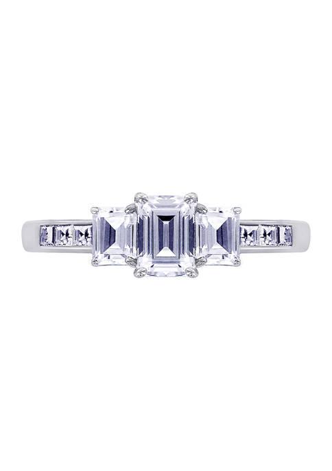 DIAMONBLISS 2 ct. t.w. Cubic Zirconia Emerald Cut