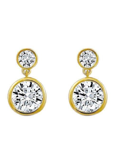 DIAMONBLISS Sterling Silver 3.85 ct. t.w. Cubic Zirconia
