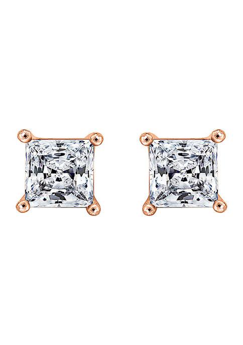 DIAMONBLISS 2 ct. t.w. Princess Cut Cubic Zirconia
