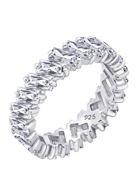 KIERA Platinum Plated Sterling Silver 5.28 ct. t.w.