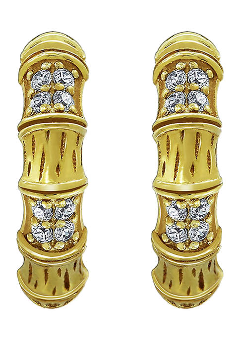DIAMONBLISS 18k Yellow Gold Plated Sterling Silver Texture