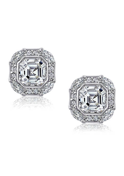J'admire Platinum-Plated Sterling Silver Swarovski® Zirconia