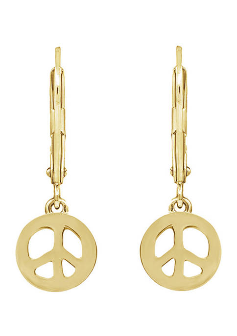 Peace Love World Gold Clad Sterling Silver Peace