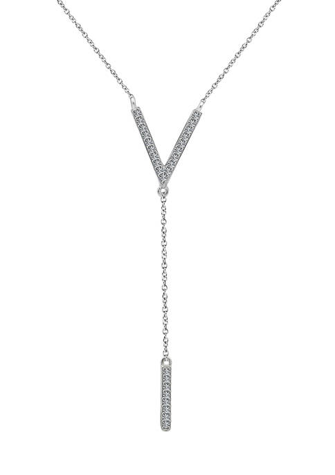 J'admire Platinum Plated Sterling Silver 1/4 ct. t.w.