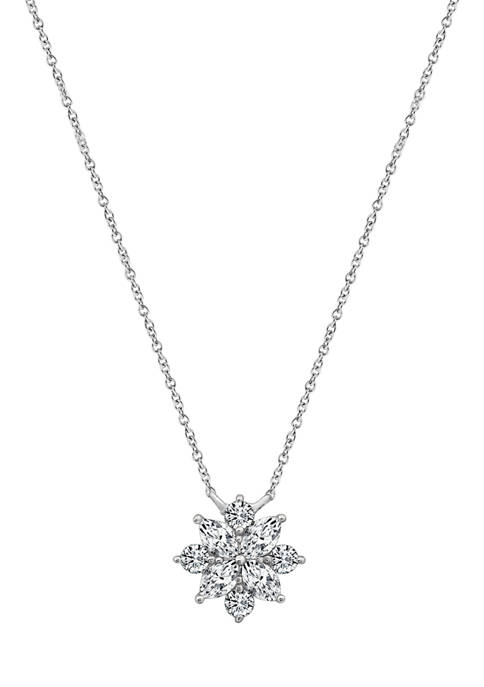 J'admire Platinum Plated Sterling Silver 5/8 ct. t.w.