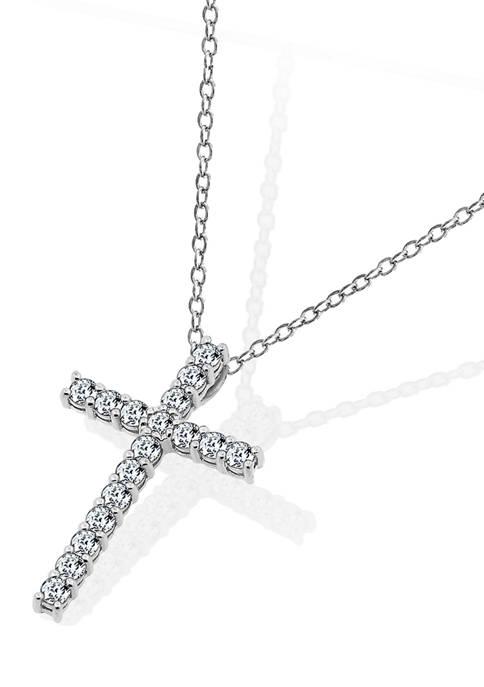 J'admire 1 ct. t.w. Swarovski® Zirconia Cross Pendant