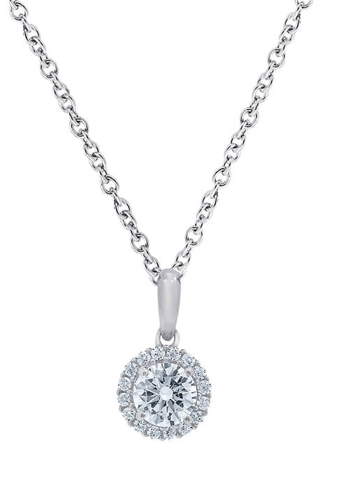 J'admire Platinum Plated Sterling Silver 4/5 ct. t.w.