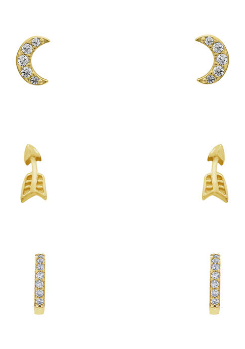 J'admire Yellow Gold Plated Sterling Silver Cubic Zirconia