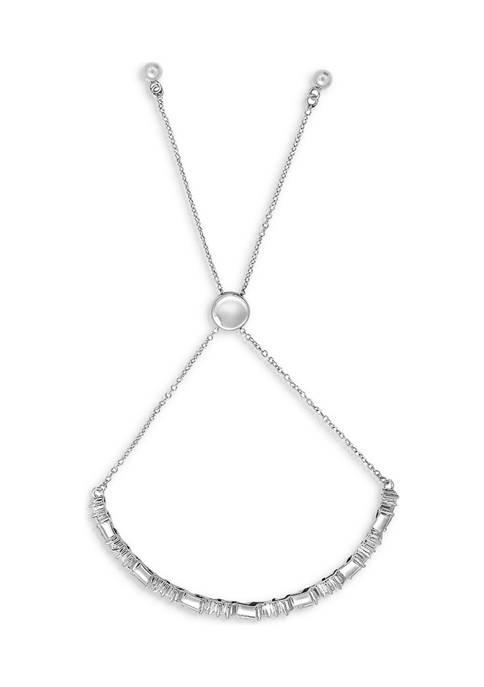 KIERA Platinum Plated Sterling Silver 3.28 ct. t.w.