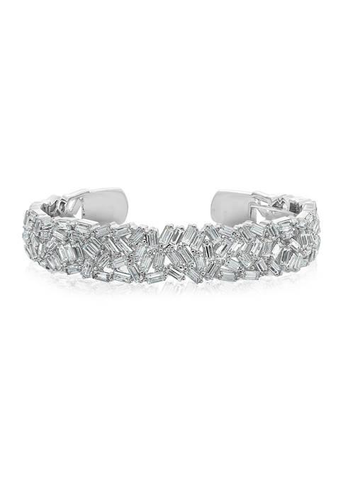 KIERA Platinum Plated Sterling Silver 10.16 ct. t.w.