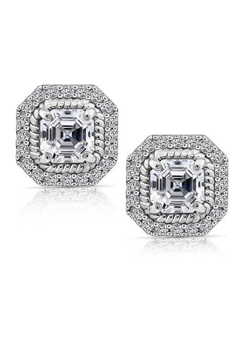 KIERA Platinum Plated Sterling Silver 3 ct. t.w.