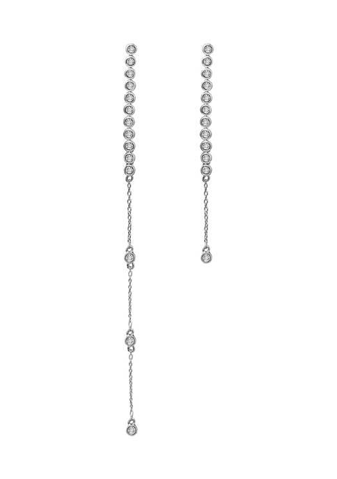KIERA Platinum Plated Sterling Silver 7/8 ct. t.w.