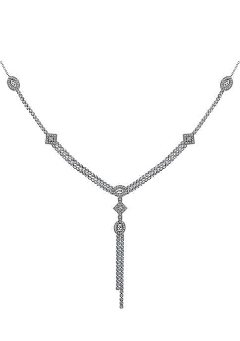 KIERA Platinum Plated Sterling Silver 2.15 ct. t.w.