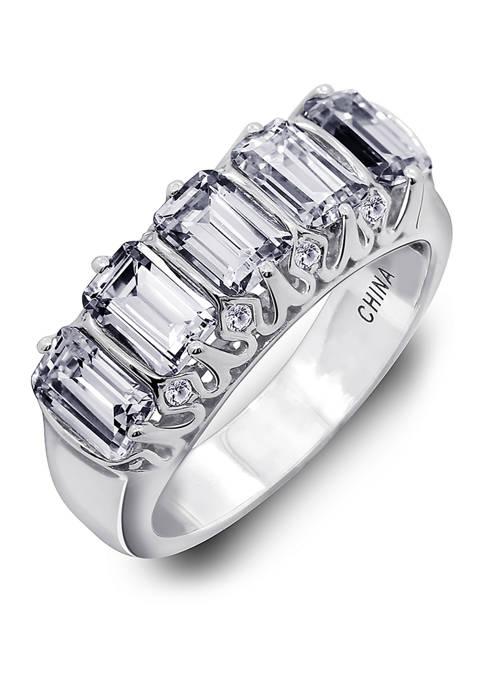KIERA Rhodium Plated Sterling Silver 3.5 ct. t.w.