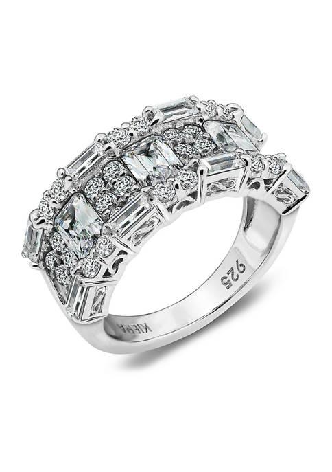 KIERA Platinum Plated Sterling Silver 7.41 ct. t.w.