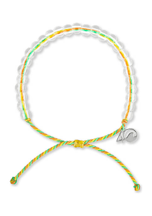 4Ocean Sea Star Beaded Bracelet- Green, Yellow, Orange
