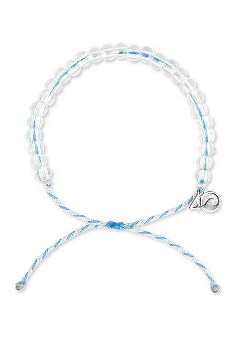 4Ocean Beluga Whale Bracelet- White and Light Blue