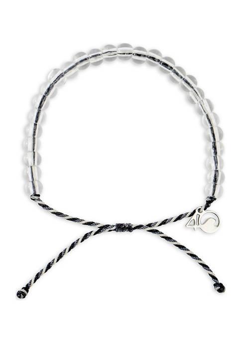 4Ocean Great White Shark Beaded Bracelet- Black, Grey