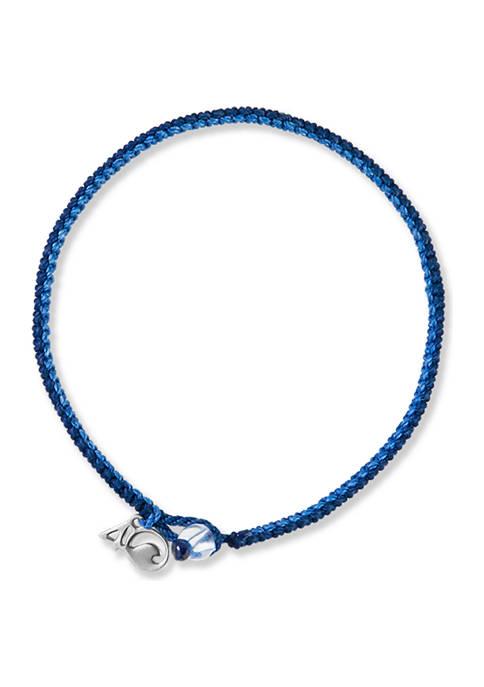 4Ocean Sperm Whale Braided Bracelet- Navy and Blue