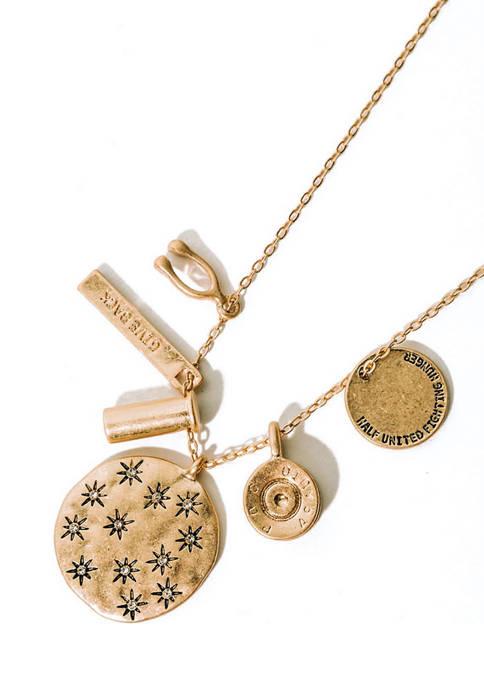HALF UNITED Lab Created Purpose Pendant Necklace