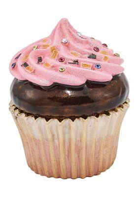 Luxury Giftware By Jere Women Bejeweled Berries N Crème Chocolate Cupcake Trinket Box
