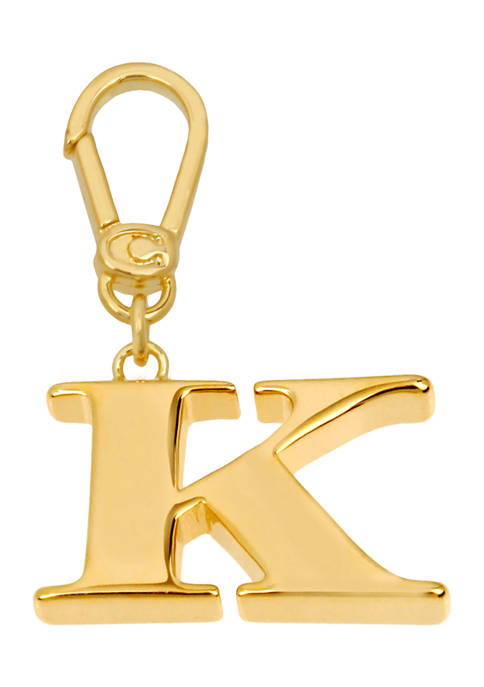 Collectible K Initial Charm