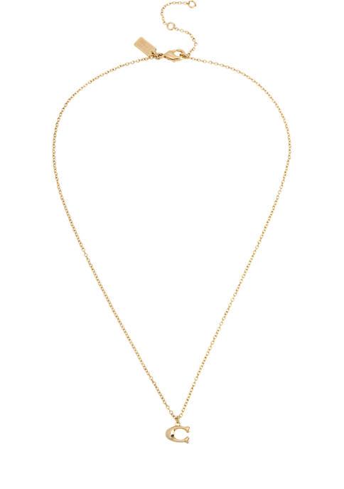 COACH Signature C Starter Necklace