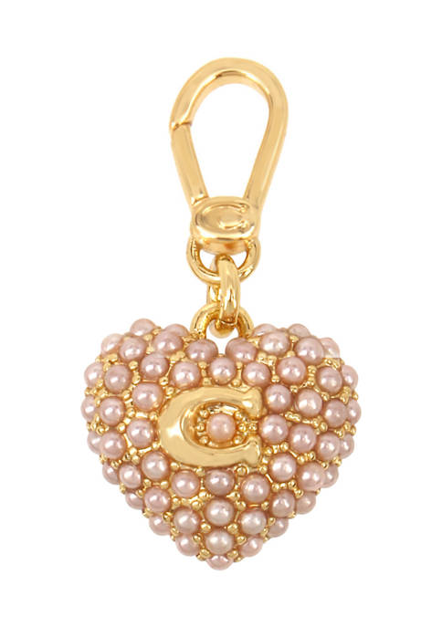 COACH Collectible Pearl Puff Heart Charm