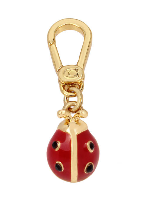 COACH Collectible Garden Party Crystals Ladybug Charm