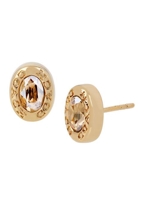 Signature Logo Swarovski® Crystal Stud Earrings
