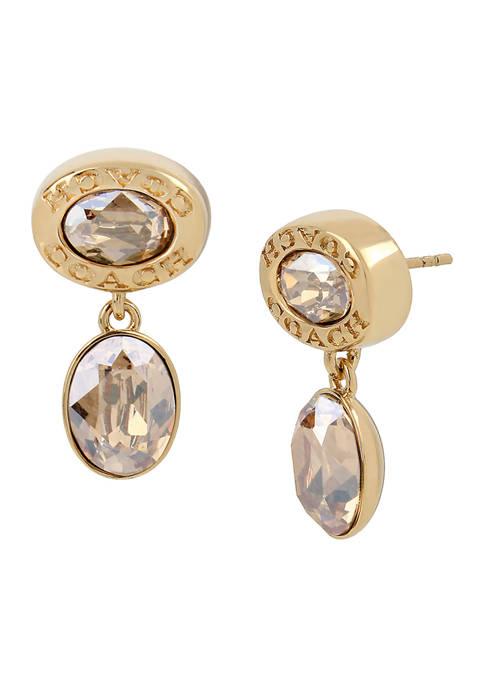 Signature Logo Swarovski® Crystal Double Drop Earrings