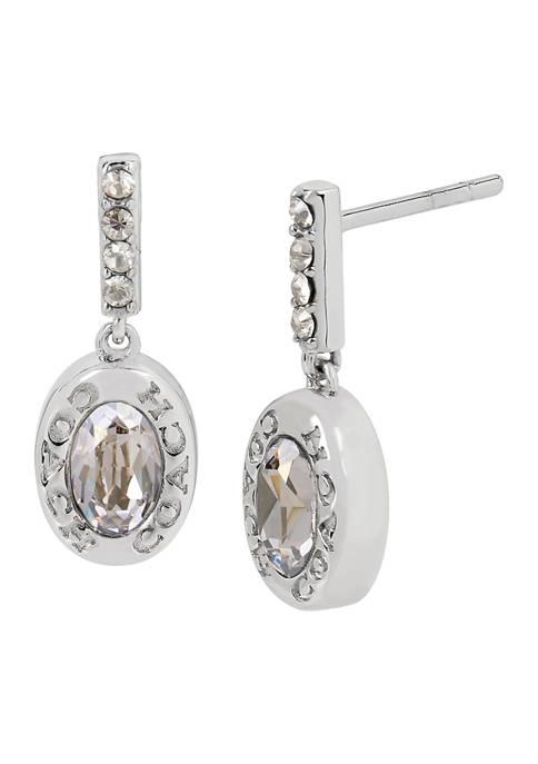 Signature Logo Swarovski® Crystal Bar Drop Earrings