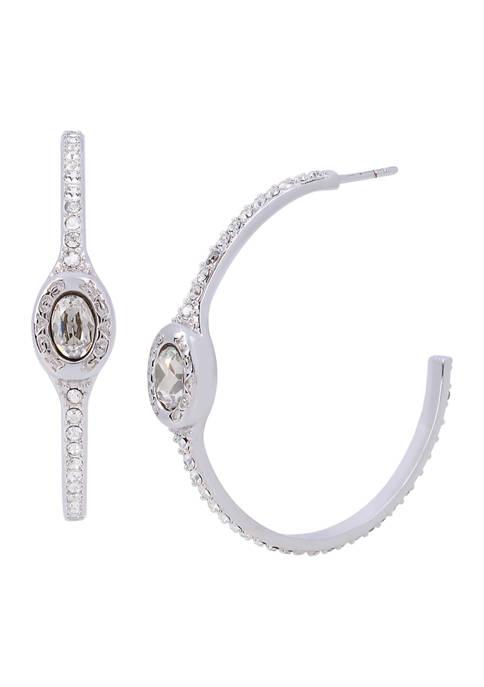 COACH Signature Logo Swarovski® Crystals Pavé Hoop