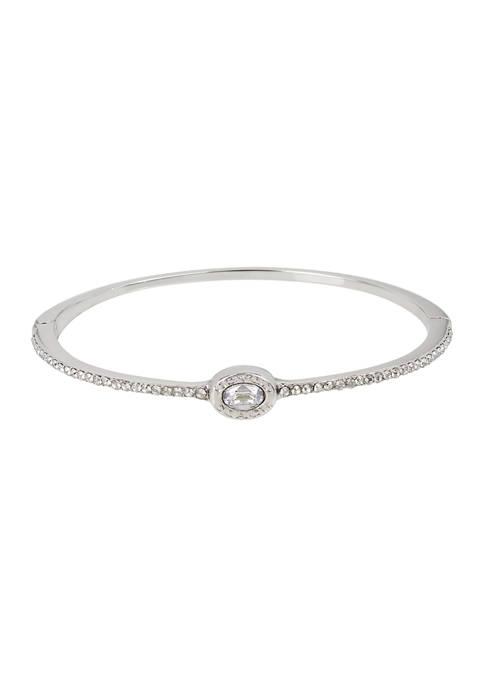 COACH Signature Logo Swarovski® crystals Delicate Hinged