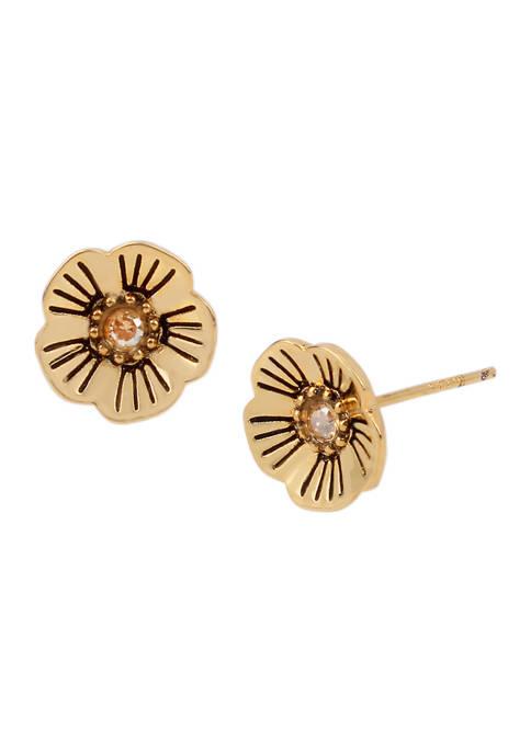 Tea Rose Swarovski® Crystals Stud Earrings