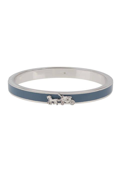 COACH Horse & Carriage Enamel Hinged Bangle Bracelet