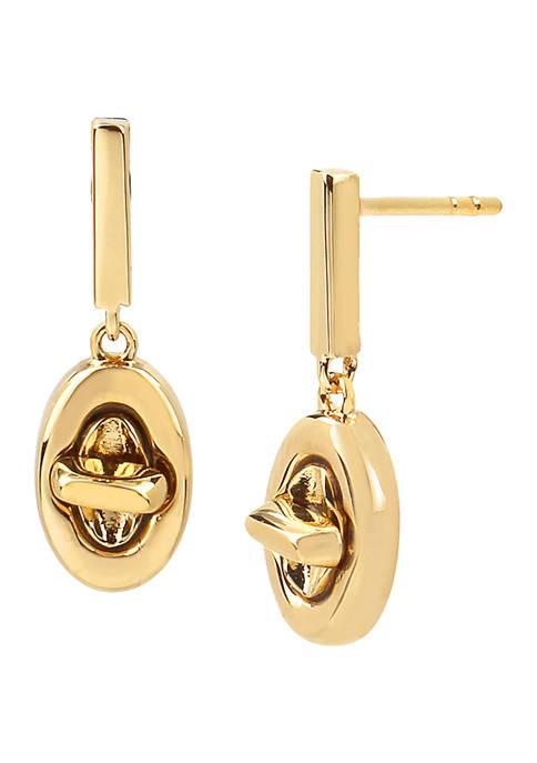 COACH Turn Lock Drop Earrings