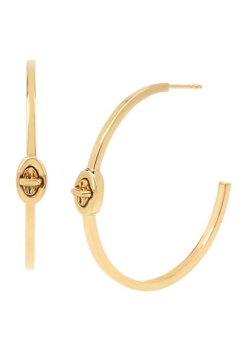 COACH Turn Lock Hoop Earrings