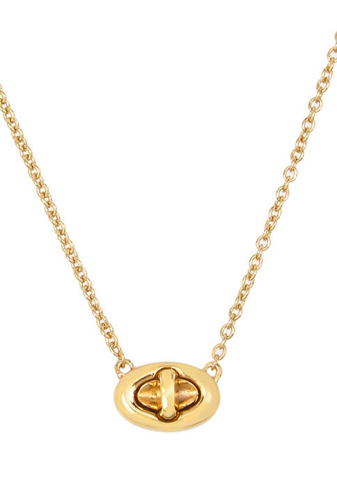COACH Turn Lock Pendant Necklace