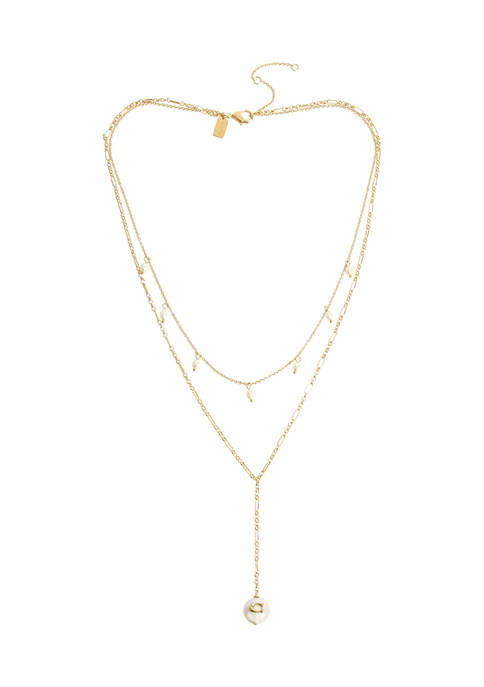 COACH Freshwater Pearl Layered Y-Necklace