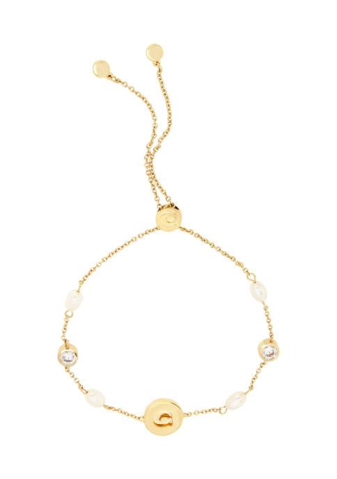 COACH Freshwater Pearl Slider Bracelet