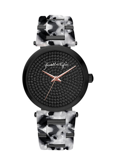 KENDALL + KYLIE Black and White Tortoise Link