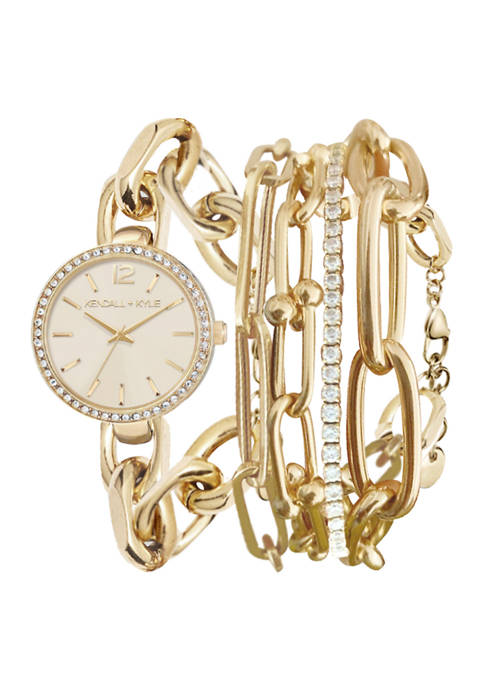 KENDALL + KYLIE Dainty Gold Tone Chain Link