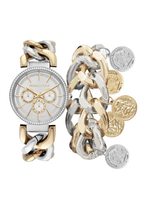 KENDALL + KYLIE Silver and Gold Tone Metal