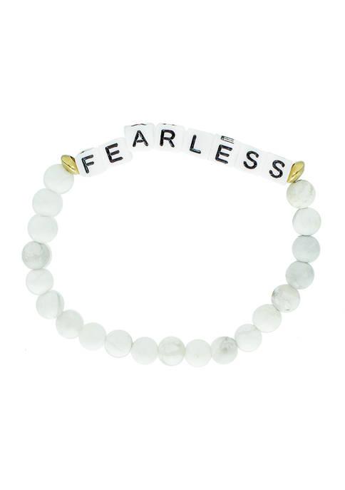White Bead Fearless Bracelet